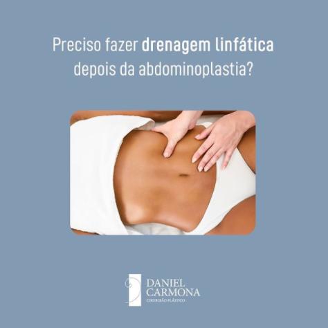 Preciso fazer drenagem linfática depois da abdominoplastia?